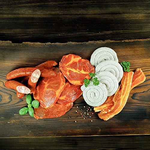 WURSTBARON® Bayerisches Wurst & Fleisch Grillpaket für 5 Personen (ca. 1.6kg) mit Schweinenacken...